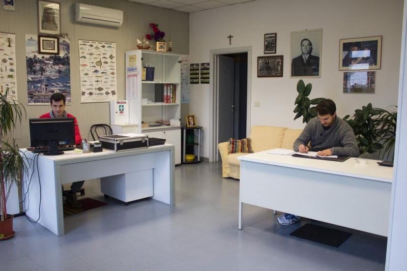Gli uffici della Lory Pesca, Azienda che commercia pesce fresco dell'Adriatico esportandolo in tutt'Italia