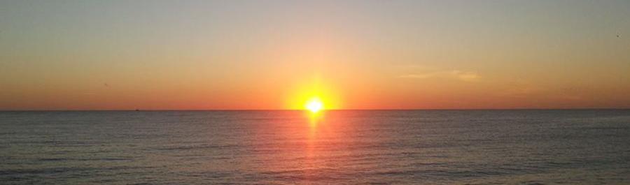 L'alba vista dal Mercato Ittico San Benedetto del Tronto